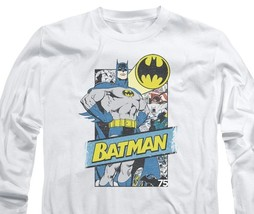 Batman DC Comics Superhero Retro Superhero Distressed long sleeve tee BM2414 image 3