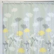 Mustard Yellow Grey Daisy 180 x 180 cm Shower Curtain Waterproof Shower Screen  image 2