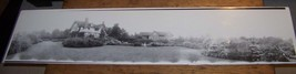 VINTAGE WELLSVILLE NY VICTORIAN HOUSE ARCHITECTURE PANORAMIC PHOTO YARD ... - $24.74