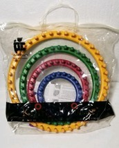 Provo Craft Knifty Knitter 4 Round Looms with Hook & Bag Set 21-0100 New - $32.09 CAD