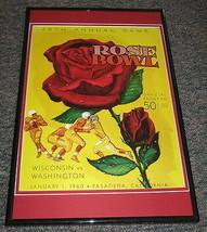 1960 Rose Bowl Washington vs Wisconsin Framed 10x14 Poster Official Repro - $32.36