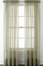 "NEW Liz Claiborne Lisette Rod Pocket Sheer Curtain Panel 60"" x 84"" Eveni... - $16.05"