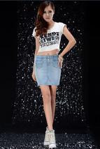 Jhonpeters Women Denim Blue Skirt - $29.99