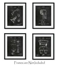 "Bathroom Patent Art Prints - 8""x10"" Set of 4 - Restroom Powder Room Wall... - $16.99"