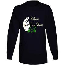 Relax I'm  Slow 420 Canna Long Sleeve T Shirt image 2
