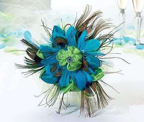 Primary image for Lillian Rose Aqua Peacock Feather Wedding Bouquet