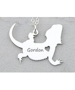 Personalized Bearded Dragon Charm Lizard Necklace Dragon Jewelry 3 Color... - $13.25
