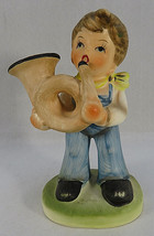 Vintage Erich Stauffer 9483 Figurine Boy Playing Hunting Horn Hand Paint... - $20.00