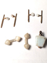 Lot of 3 Pearl and other Vintage Antique Cufflink 1800s Early 1900s Cuff... - $36.63