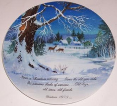 Christmas 1973 Winterscene by ROBERT LAESSIG A.W.S Collectible Porcelain... - $23.99