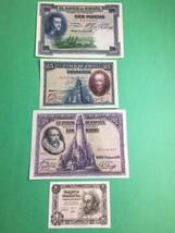 SPAIN UNCIRCULATED PESETAS  1 1951, 25 1928 & (2) 100 1925 & 1928. - $88.68