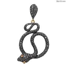 Diamant Pavé Argent Sterling Serpent Pendentif 14k or Rubis Antique Inspire - $316.38