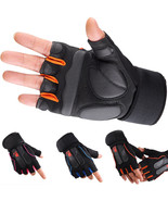 Weight Lifting Gym Gloves Workout Wrist Wrap Sports Exercise Training Fi... - $8.98