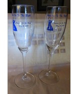 2 Vintage Arcoroc Clear Champagne Flutes Hanover MAss Jr-Sr Prom May 19 ... - $20.00