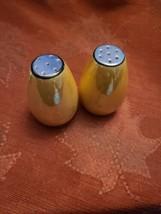 Vintage Pale Orange / Blue Japanese Lusterware Salt and Pepper Set Japan (#11)