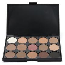 Professional Women Facial Makeup Cosmetic Eyeshadow Palette 15 Colors Smoky Natu - $6.18+