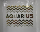 "AQUARIUS ZODIAC SIGN ASTROLOGY DISH TRINKET or DISPLAY 5 ½"" Square by PD"