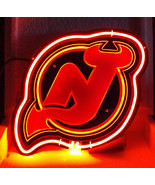 "SB319 New Jersey Devils sports beer Bar Pub Display Neon Light Sign 10.75""x11"" - $95.00"
