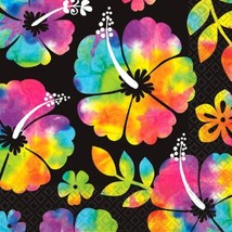 Neon Paradise 36 Luncheon Napkins Luau Summer Pool Party - £6.86 GBP