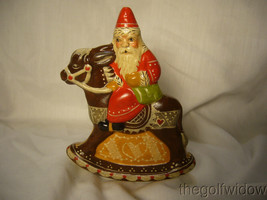 Vaillancourt Folk Art Rocking Santa Signed by Judi and Low Number image 1