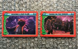 1991 Topps Teenage Mutant Ninja Turtles TMNT II Movie Cards Lot: #75 & #76 - $3.92