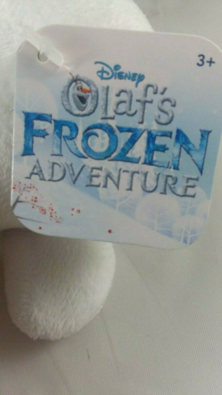 Disney Store Olaf's Frozen Adventure Olaf Plush Satin Candy Cane Nose NWT 9""