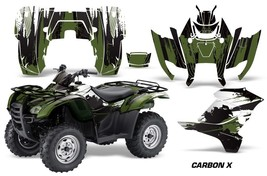 Atv Graphics Kit Decal Sticker Wrap For Honda Rancher At 2007-2013 Carbonx Green - $168.25
