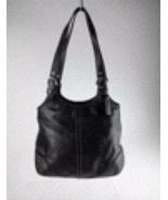 Coach black leather shoulder bag tote - $90.00