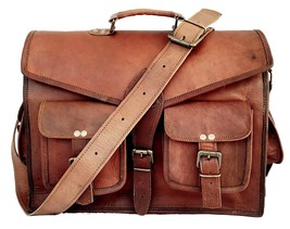 New Men Briefcase Laptop Soft Leather Office Formal Shoulder Messenger S... - $67.91
