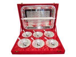 SILVER PLATED BOWL SET, SERVING BOWL SET OF 6 - $69.00