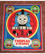 Thomas The Train Baby Quilt, Child's Wall Hanging Quilt, Crib Blanket - $42.00