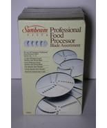 1983 Sunbeam Vista Professional Food Processor 5 Blade Set 84071 NIB 14-7J - $23.50