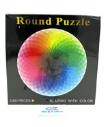 """1000 Pieces Blazing With Color Large Round Jigsaw Puzzle, 26.6"""" (675mm) ... - $29.65"""