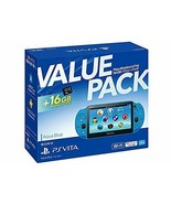PlayStation Vita 16GB Value Pack Aqua Blue game console from Japan - $571.90