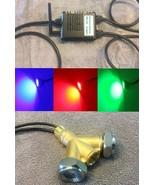 Drain Plug Underwater LED Boat Lights w/ Brass Y-Adapter.  Bluetooth Con... - $237.59