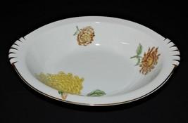 "Kent Verona China 11"" Oval Vegetable Bowl Occupied Japan Chrysanthemums ... - $42.56"