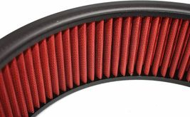 """HIGH FLOW WASHABLE & REUSABLE ROUND AIR FILTER ELEMENT REPLACEMENT 14"""" X 4"""" RED image 7"""