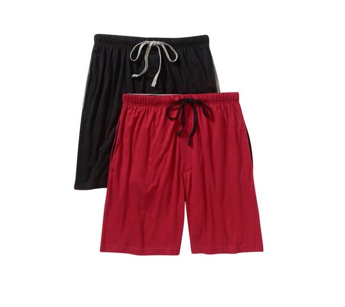 Hanes-Men's Knit Sleep Shorts, Assorted colors 2-pk