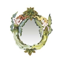 "14"" Fairyland Greenman Twins Leaf Fairies Mirrors - $69.29"