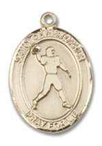 14K Gold St. Christopher Medal 1/2 x 1/4 inch - $228.18