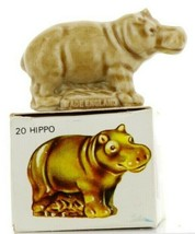 No.20 Hippo LRG Miniature Animal Porcelain Figurine Picture Box Whimsies by Wade image 1
