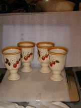 "4 MIKASA STRAWBERRY FESTIVAL WATER GOBLETS  5 3/4"" - $40.00"