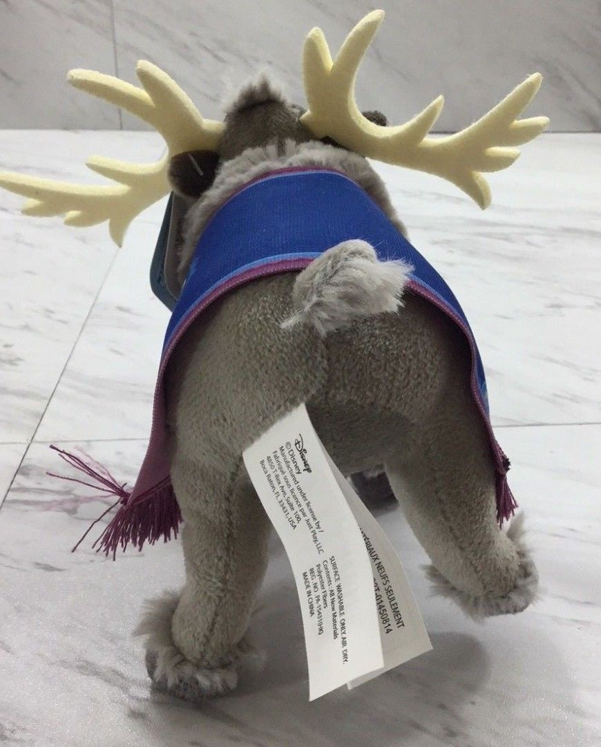 "DISNEY Frozen SVEN 7"" Plush Bean  NEW WITH TAG B4"