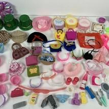 Vintage Barbie Doll Accessories Lot of 103 Hangers Hats Purses Glasses a... - $64.99