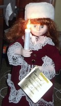 "Vintage 24"" Telco Motionette Victorian Girl with Candle - $27.69"