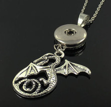 Dragon Snap Chunk Button Necklace >> We Combine Shipping (4501) - $3.47
