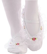Performance Ballet Shoes/Dance Shoes For Pretty Girl (23CM Length) White Lace