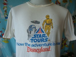 Vintage 80's Walt Disney Star Wars Tours Disneyland T Shirt L  - $197.99
