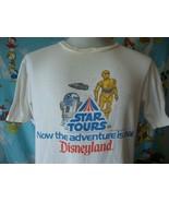 Vintage 80's Walt Disney Star Wars Tours Disneyland T Shirt L  - $197.99