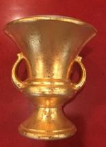 Rare Vintage Haeger Vase Trophy Urn Royal 22 K Gold Glaze - $70.70